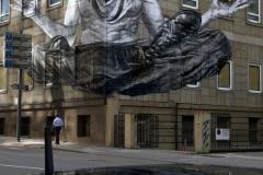 """Schutz des Untergrundes für Graffitkunst """"street art brazil"""""""