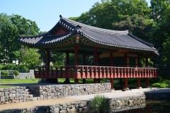 Koreanischer Garten Grüneburgpark Restaurierung mit Lehmziegeln, Lehmputz, Mineralfarbe