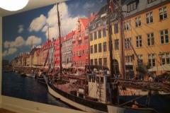 Digitale Fototapete auf Wandmaß